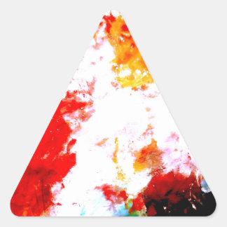 Ilustraciones abstractas creativas pegatina triangular