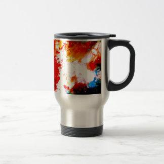 Ilustraciones abstractas creativas taza térmica
