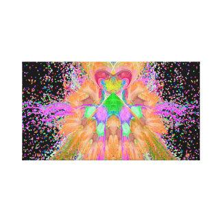 Ilustraciones abstractas de la celebración impresión en lienzo estirada