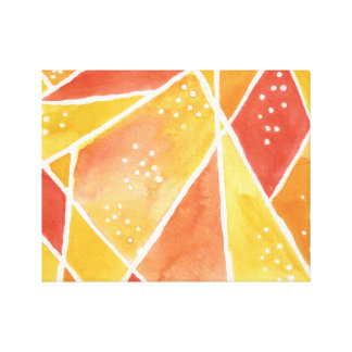 Ilustraciones abstractas de la lona de la acuarela impresiones de lienzo