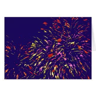 Ilustraciones abstractas de los fuegos artificiale tarjetas
