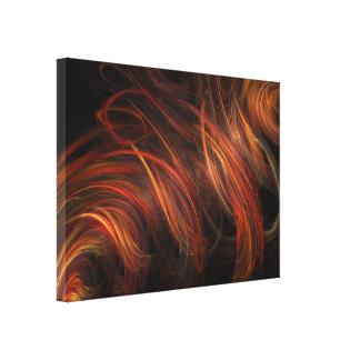 Ilustraciones abstractas del fractal impresiones en lona estiradas