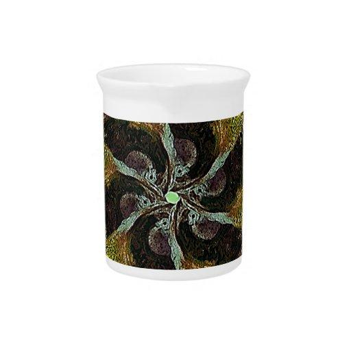 Ilustraciones abstractas del ornamento jarras