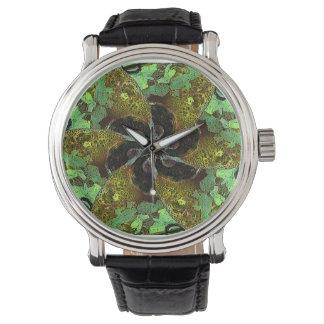 Ilustraciones abstractas del ornamento reloj