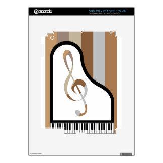 Ilustraciones abstractas del piano iPad 3 skins