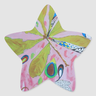 Ilustraciones abstractas del watercolour pegatina en forma de estrella