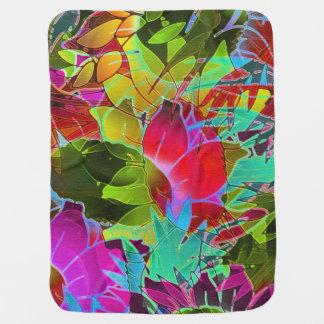Ilustraciones abstractas florales combinadas del b mantitas para bebé