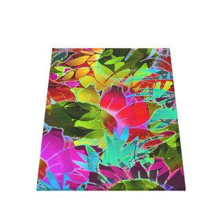 Ilustraciones abstractas florales de la lona impresion en lona