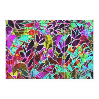 Ilustraciones abstractas florales de la lona impresiones en lona