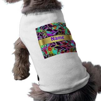 Ilustraciones abstractas florales de la ropa del m camisetas de mascota