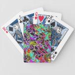 Ilustraciones abstractas florales de los naipes baraja cartas de poker