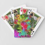 Ilustraciones abstractas florales de los naipes cartas de juego