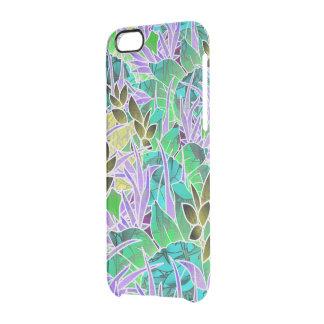 ilustraciones abstractas florales del caso del funda clearly™ deflector para iPhone 6 de uncommon