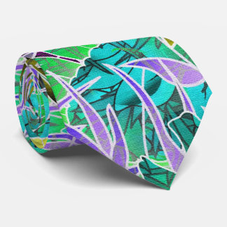 Ilustraciones abstractas florales del lazo corbata