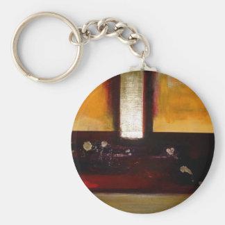 Ilustraciones abstractas llavero redondo tipo pin