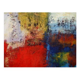 Ilustraciones abstractas modernas coloridas postal