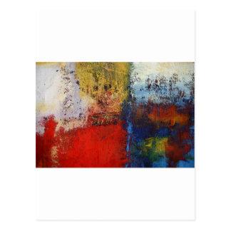 Ilustraciones abstractas modernas coloridas tarjetas postales