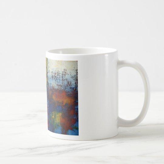 Ilustraciones abstractas modernas coloridas taza de café
