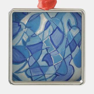 Ilustraciones abstractas originales azules claras  adornos de navidad