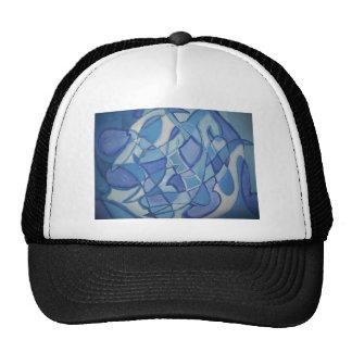 Ilustraciones abstractas originales azules claras  gorro