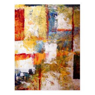Ilustraciones abstractas postales