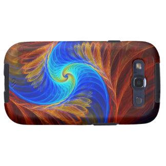 Ilustraciones abstractas psicas de Fracta Galaxy S3 Protector