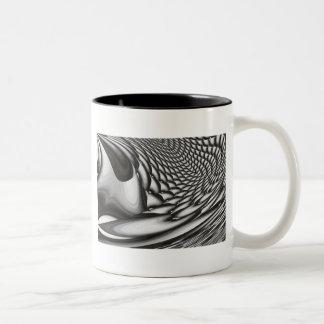 Ilustraciones abstractas taza de dos tonos