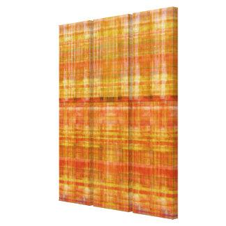 Ilustraciones anaranjadas del panel del arte conte lienzo envuelto para galerías