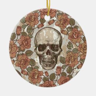Ilustraciones apenadas retras del cráneo adornos de navidad