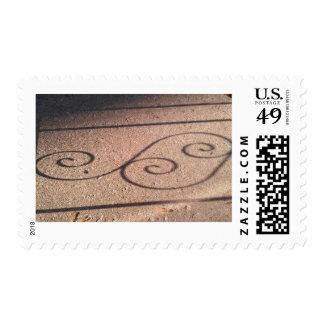 Ilustraciones arquitectónicas del trabajo del timbres postales
