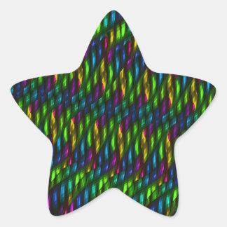 Ilustraciones azulverdes del extracto del mosaico calcomanías forma de estrella personalizadas