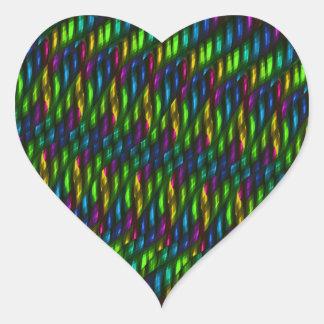 Ilustraciones azulverdes del extracto del mosaico calcomanías de corazones personalizadas