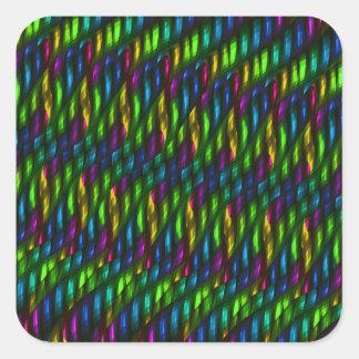 Ilustraciones azulverdes del extracto del mosaico pegatina cuadrada