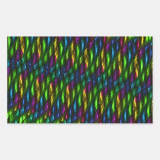 Ilustraciones azulverdes del extracto del mosaico pegatina rectangular