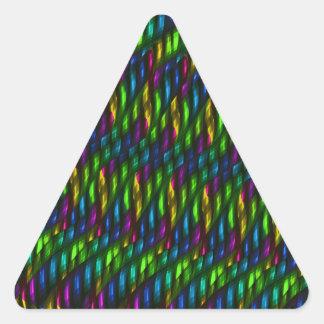 Ilustraciones azulverdes del extracto del mosaico pegatina triangular