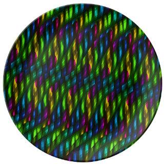 Ilustraciones azulverdes del extracto del mosaico  plato de cerámica