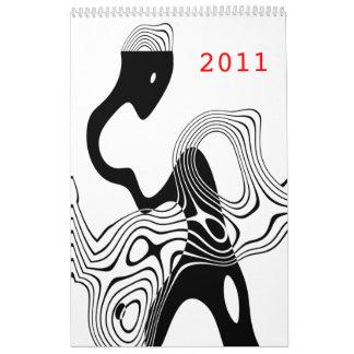 ilustraciones calendario de pared