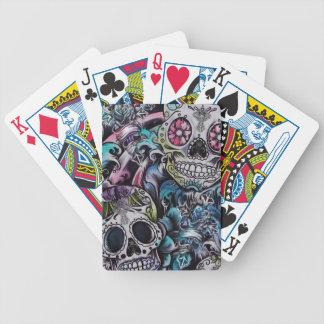 Ilustraciones coloridas de skull dia de los muerto barajas