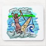 Ilustraciones cristianas de despedida del Mar Rojo Tapete De Ratones