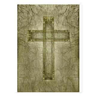 Ilustraciones cruzadas cristianas del símbolo tarjetas postales