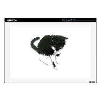 Ilustraciones curiosas del gato calcomanías para 43,2cm portátiles