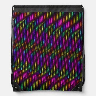 Ilustraciones de cristal del extracto del mosaico mochilas