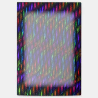 Ilustraciones de cristal del extracto del mosaico  nota post-it