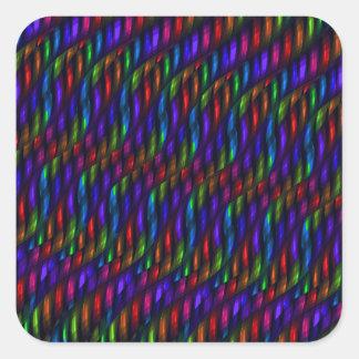 Ilustraciones de cristal del extracto del mosaico pegatina cuadrada