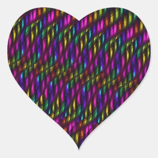 Ilustraciones de cristal del extracto del mosaico pegatina en forma de corazón
