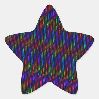 Ilustraciones de cristal del extracto del mosaico pegatina en forma de estrella