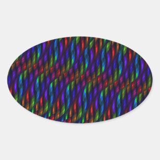 Ilustraciones de cristal del extracto del mosaico pegatina ovalada