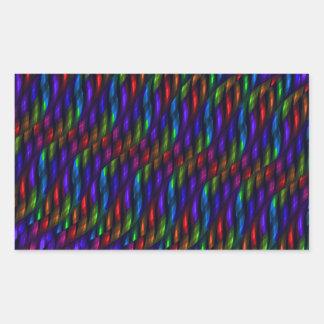 Ilustraciones de cristal del extracto del mosaico pegatina rectangular