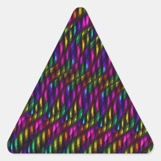 Ilustraciones de cristal del extracto del mosaico pegatina triangular