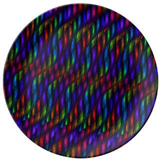 Ilustraciones de cristal del extracto del mosaico  plato de cerámica